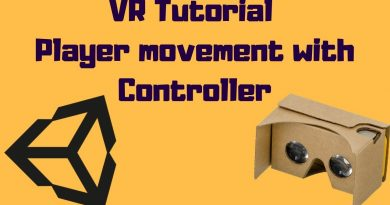 Unity VR Tutorial - Player Movement/Interaction with Controller for Google Cardboard