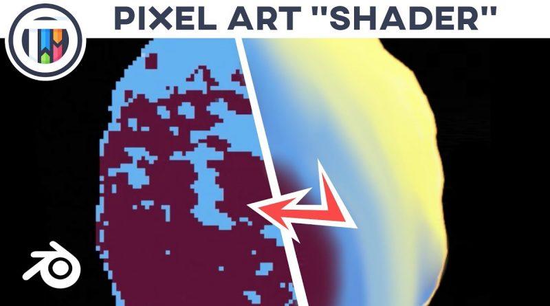 Blender 2.8 Eevee Tutorial - How to create PIXEL ART using 3D objects - Pixel Shader | TutsByKai