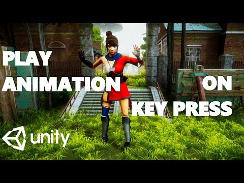 HOW TO PLAY ANIMATION IN KEY PRESS WITH C# UNITY TUTORIAL