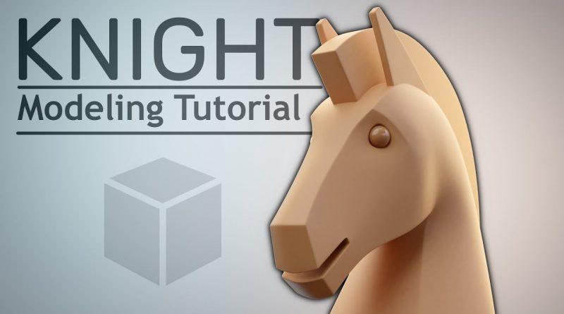 Blender 2.81 Modeling Tutorial: Chess Knight