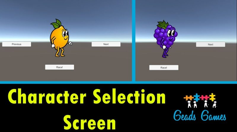 Character Selection Screen - Unity Tutorial - 2019