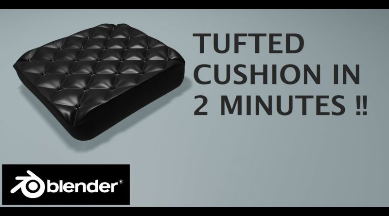 [2.8] Blender Tutorial: Make a Tufted Cushion in 2 minutes