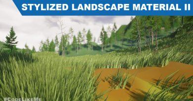 Unreal Stylized Landscape Material - Distance Based Color Blending - UE4 Tutorials #292