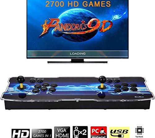Pandoras Box 9D Arcade Video Game Console 720P Game System with 2700 Games Supports PC TV 2 Players