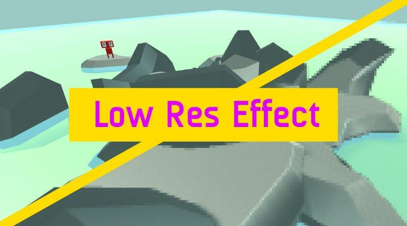 Low Res Pixelated Rendering In Unity (Tutorial)