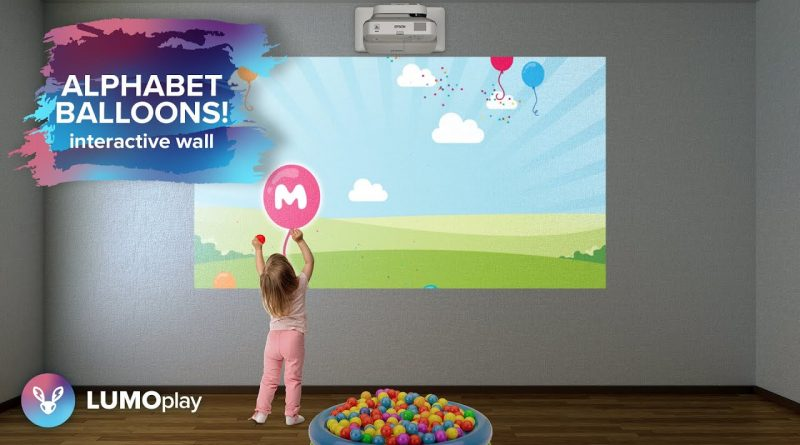 Alphabet Balloons | interactive projector wall game from LUMOplay