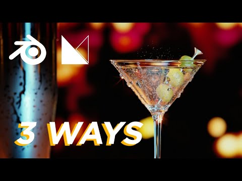3 FAST WAYS to model Martini glass in Blender -  Tutorial