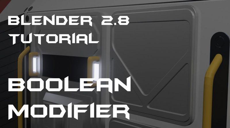 Blender 2.8 Tutorial Boolean Modifier