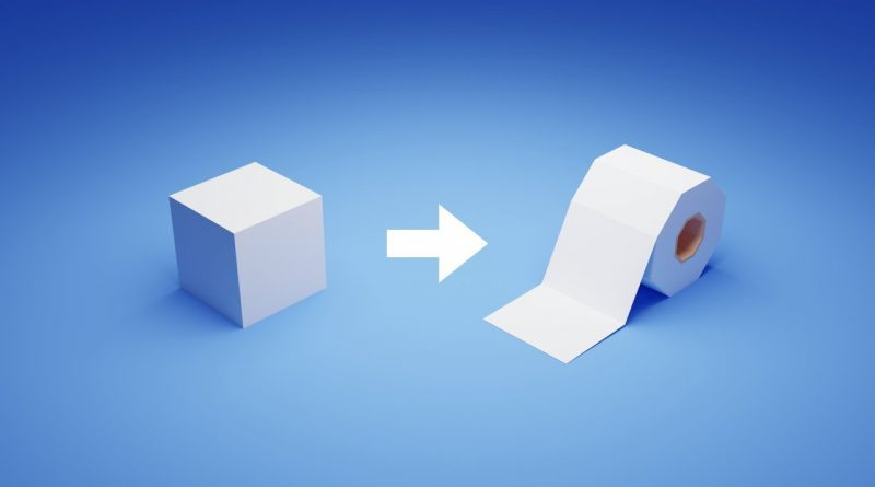 Blender 2.8 Tutorial - Create Toilet Paper From The Cube