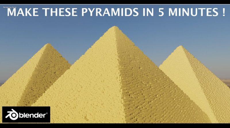 [2.8] Blender Tutorial: Make Egyptian Pyramid scene in 5 Minutes !! Beginner friendly
