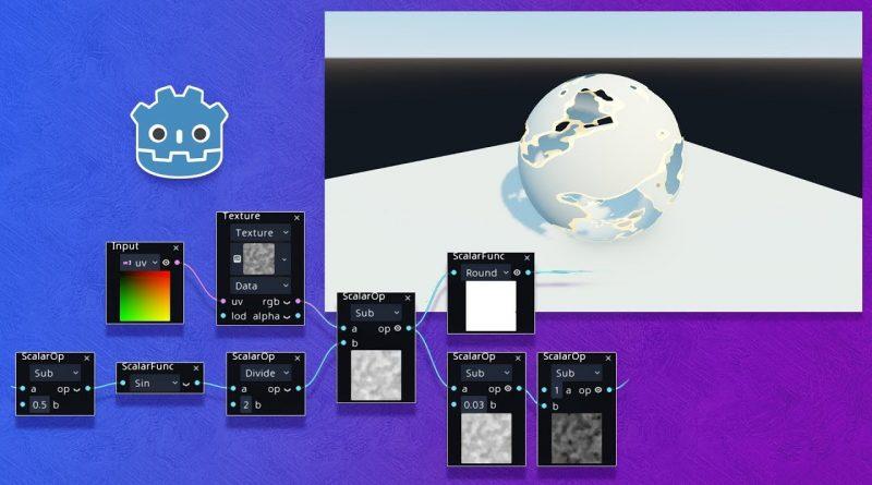 Visual Shader Editor in Godot 3.1: Dissolve Shader (tutorial)