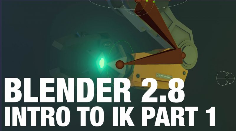 Introduction To IK Part 1 | Blender 2.8x - Rigging Tutorial