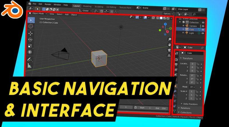 Blender Beginner interface, Navigation & Selection [EP 2] #Beginner #Tutorial #Blender