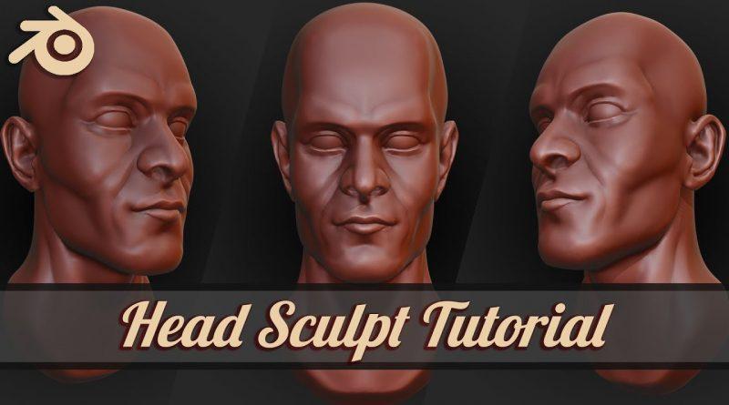 How to sculpt stylized face in Blender 2.8 Beginner Tutorial | Part 1