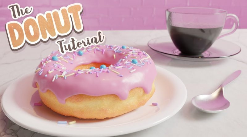 Donut & Coffee Final Blender Animation - The Donut Tutorial