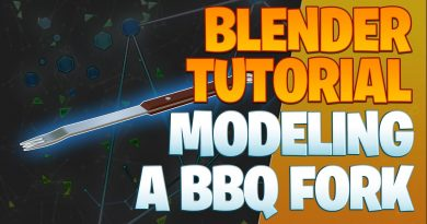Modeling a BBQ fork - Blender Tutorial