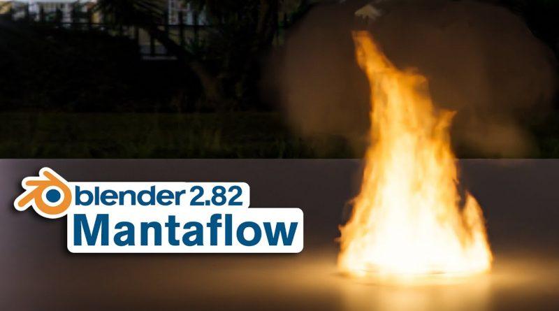 Blender Tutorial - Mantaflow Fire Simulation (2.82)