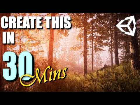 Forest Level Design in 30mins using Free Assets | Unity 2019 Follow Along Tutorial