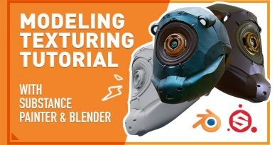 MECH Modeling and Texturing with Substance Painter & Blender - Tutorial