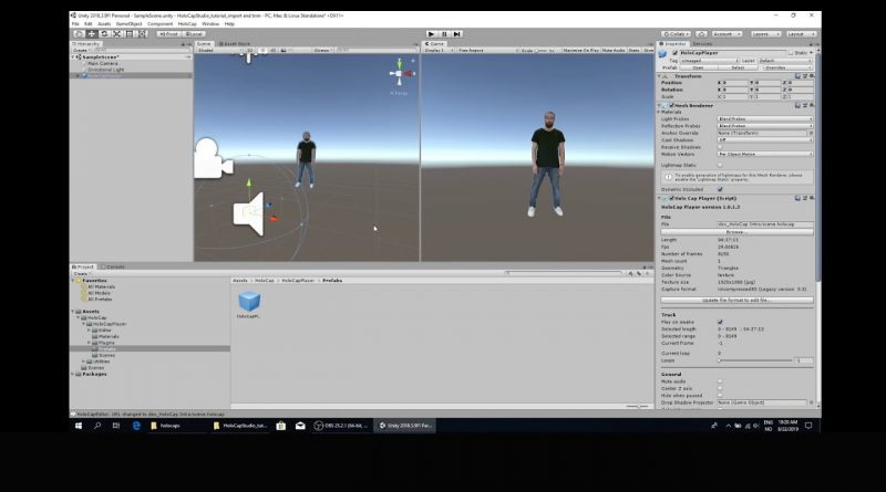 HoloCap tutorial: How to playback and trim HoloCaps in Unity