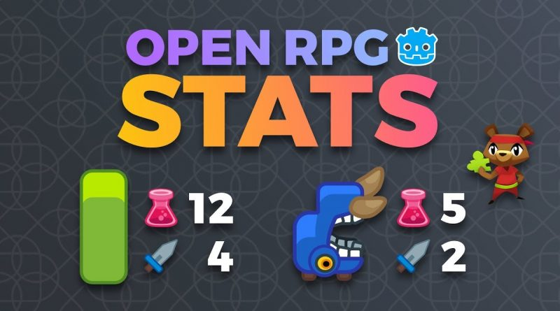 Godot RPG Character Stats Tutorial: Godot Open RPG