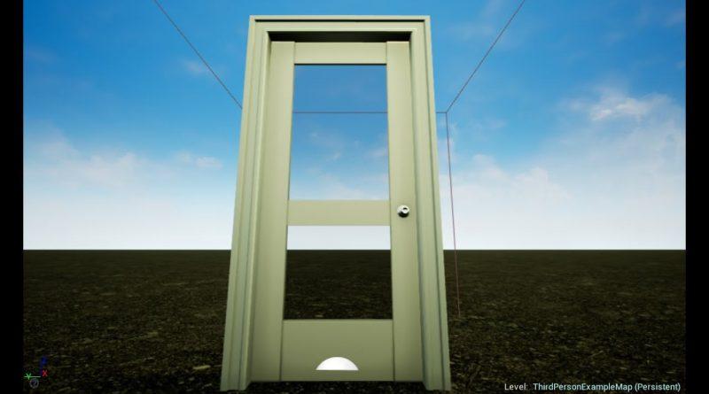 Unreal Engine 4 Beginner Tutorial  Simple Open/Close Door using E key Blueprint in 5 minutes
