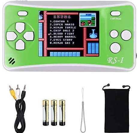 LiNKFOR Handheld Game Console for Kids Portable Retro Video Game Player Built-in 152 Classic Games 2.5 inches LCD Screen