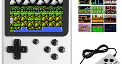 JAMSWALL Handheld Game Boy Console, 400 Classical FC Games 2.8-Inch Screen 800mAh Rechargeable Battery Portable Retro Video Game Console Support for Connecting TV and Two Players(White)