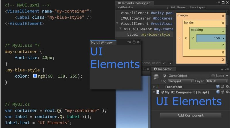 UIElements in Unity 2019.1