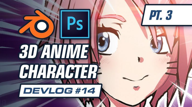 Texturing a 3D Anime Character In Blender (Part 3): Project Feline Indie Game Devlog #14