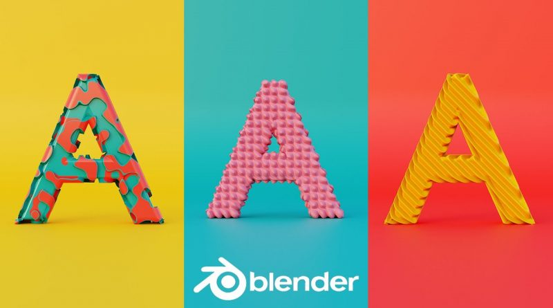 Create easy Stylized text with nodes in Blender /// Blender 2.81 tutorial