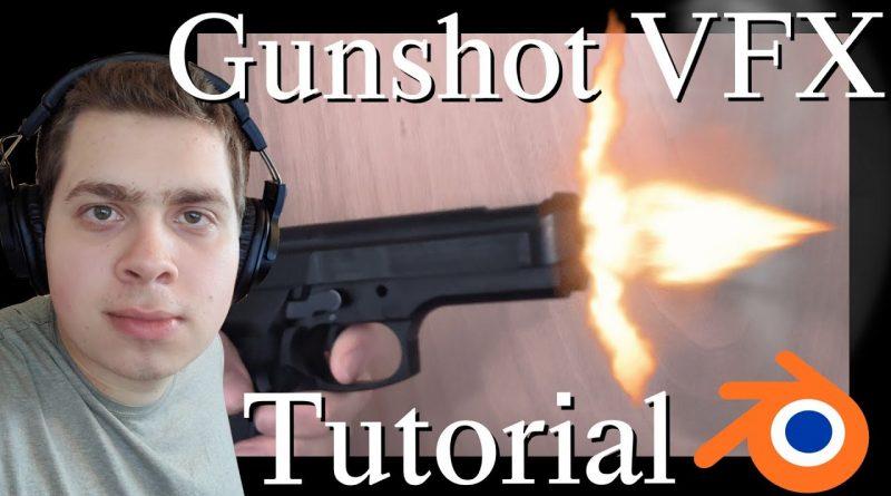Create Gunshot VFX Using Free Stock Footage (Blender Tutorial)