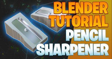 Modeling a pencil sharpener - Blender Tutorial