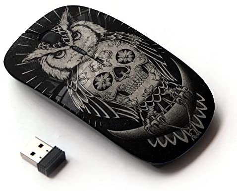 KOOLmouse [ Optical 2.4G Wireless Mouse ] [ Owl Skull Native American Indian ]