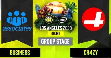 Dota2 - Business associates vs.  CR4ZY - Game 2 - Group Stage - NA - ESL One Los Angeles