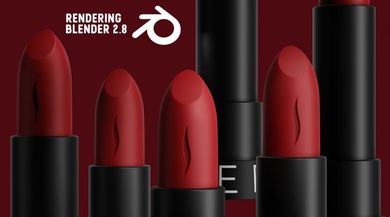 Blender 2.9 - SEPHORA Lipstick Ad Video ( Eevee)