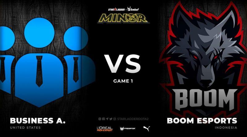 [EN] business associates vs BOOM Esports, Game 1, StarLadder ImbaTV Dota 2 Minor Season 3