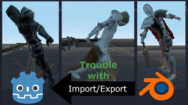 Export/Import Problems in Godot 3.2 and Blender 2.8x