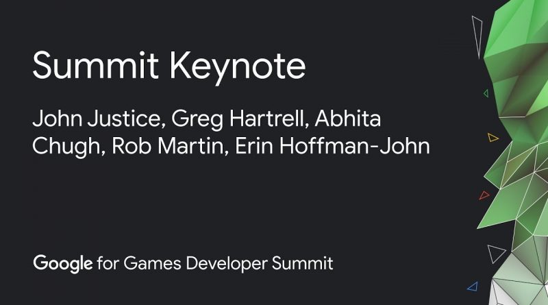 Google for Games Developer Summit Keynote