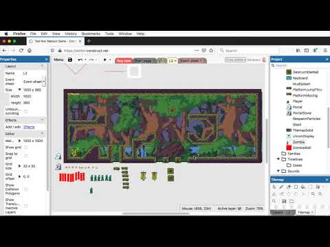 Construct 3: pt15 - Populating the Level