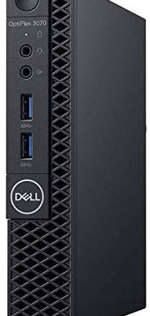 Dell OptiPlex 3070 Desktop Computer - Intel Core i5-9500T - 8GB RAM - 256GB SSD - Micro PC