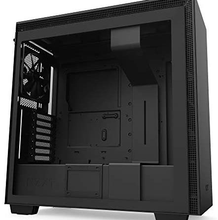 NZXT H710 - CA-H710B-B1 - ATX Mid Tower PC Gaming Case - Front I/O USB Type-C Port - Quick-Release Tempered Glass Side Panel - Cable Management System - Water-Cooling Ready - Black