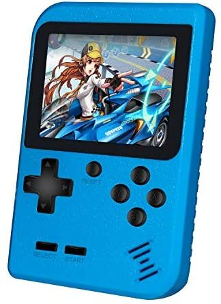 Handheld Game Console, Retro Mini Game Player with 400 Classical FC Games Support Connecting TV & Two Players for Kids Adult Gifts