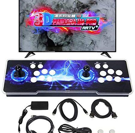 SupYaque Pandora Box 11S Retro Video Arcade Games Console Support 3D Games Built-in 3399 Games,Search Games Function,Favorite List,1280x720P with Double Players Control Joystick