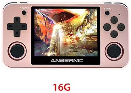 "3.5"" RG350M IPS Retro Games Console Handheld Game Console, Built-in Polymer Lithium Battery 2500 MAh & 16G ROM, Preload 10000 Games Opendingux System Gifts for Children"