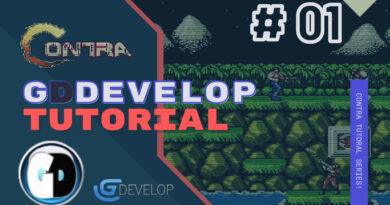 Gdevelop FREE VISUAL Game Engine CONTRA