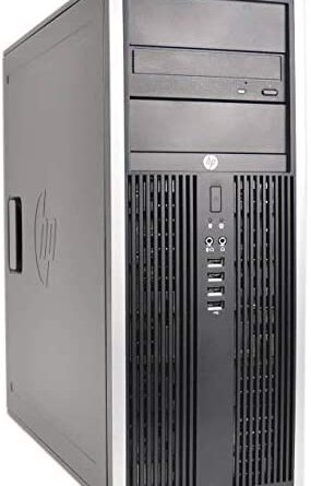 HP Elite 8200 Tower Desktop (Intel Quad Core i5 3.10GHz, AMD Radeon 1GB Graphics Card, 16GB RAM, 1TB HDD, Windows 10 Professional, WiFi, Keyboard & Mouse) (Renewed)