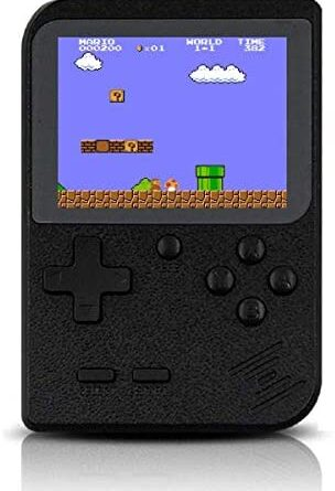 Handheld Game Console, Retro Game Console with 400 Classic Games 3.0 inch Screen Rechargeable Portable Game Console, Good Gifts for Parents(Black)