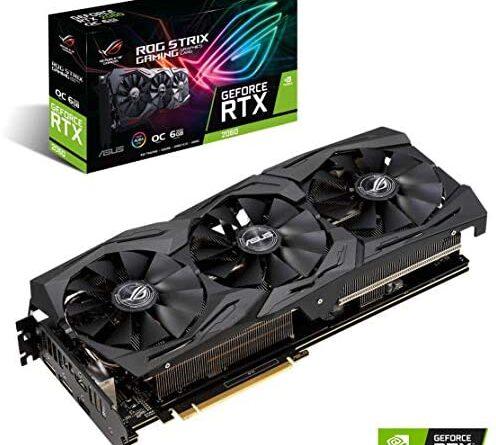 ASUS ROG STRIX GeForce RTX 2060 Overclocked 6G GDDR6 HDMI DP 1.4 Gaming Graphics Card (ROG-STRIX-RTX-2060-O6G)
