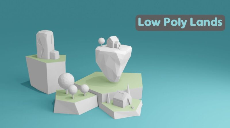 Low Poly Lands In Blender 2.8x | Timelapse Tutorial
